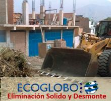 eliminacion solidos con desmonte ECOGLOBO SAC